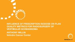 Influence of Prescription Isodose on Plan Quality Metrics for Radiosurgery of Vestibular Schwannoma